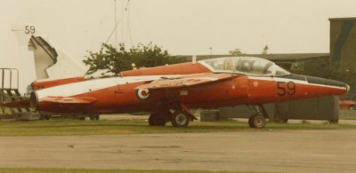 The tail of Gnat T1 8614M shows tell-tale BDR scars from Wattisham engineers